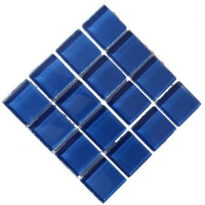 Crystal Glass Water Blue Mosaic