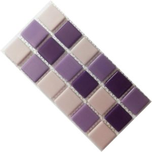 Crystal Glass Solids Lilac Mix Mosaic Tiles